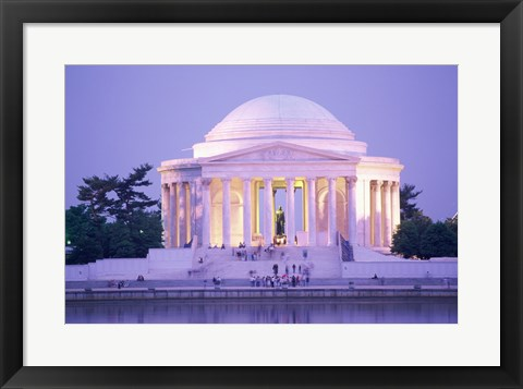 Framed Jefferson Memorial at dusk, Washington, D.C., USA Print