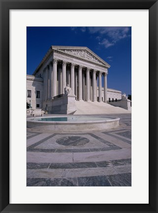 Framed Facade of the U.S. Supreme Court, Washington, D.C., USA Vertical Print
