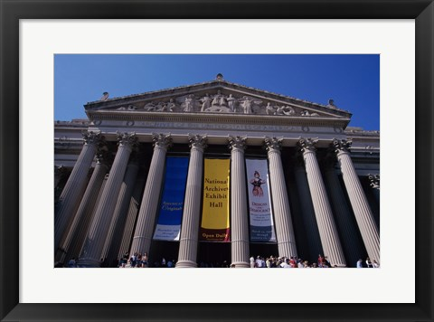 Framed Facade of the U.S. National Archives, Washington, D.C., USA Print