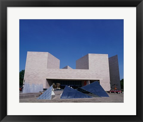 Framed Facade of the National Gallery of Art Fountain, Washington, D.C., USA Print