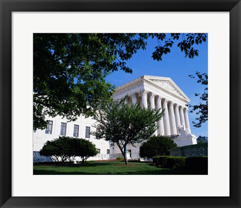Framed Exterior of the U.S. Supreme Court, Washington, D.C., USA Print