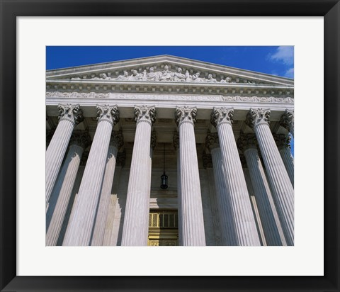 Framed Low angle view of the U.S. Supreme Court, Washington, D.C., USA Print
