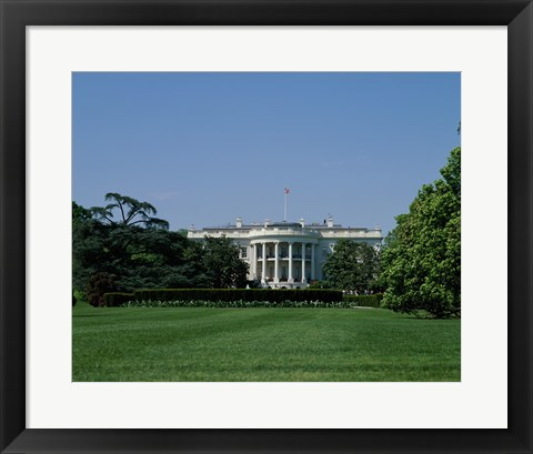 Framed Lawn at the White House, Washington, D.C., USA Print