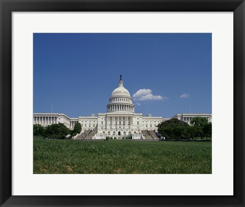 Framed Facade of the Capitol Building, Washington, D.C. Print