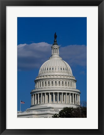 Framed Close-up of the Capitol Building Washington, D.C. Print