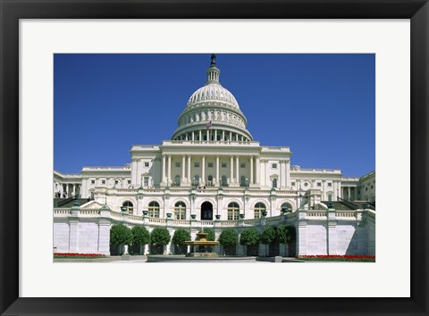 Framed Low angle view of a government building, Capitol Building, Washington DC, USA Print