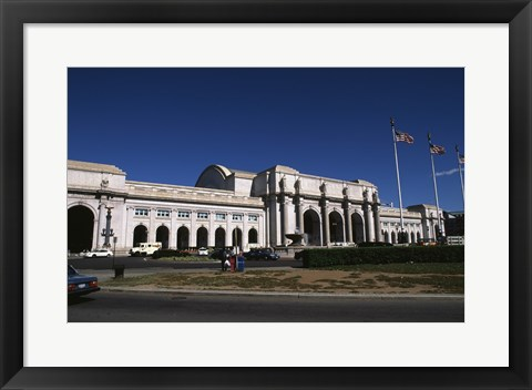 Framed Facade of a railway station, Union Station, Washington DC, USA Print