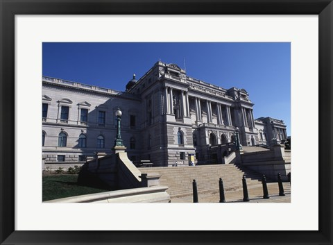 Framed Low angle view of a government building, Thomas Jefferson Building, Library Of Congress, Washington DC, USA Print