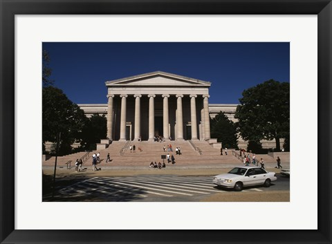 Framed Facade of a museum, National Gallery of Art, Washington DC, USA Print