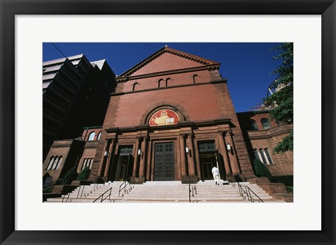 Framed Low angle view of a church, St. Matthew's Cathedral, Washington DC, USA Print