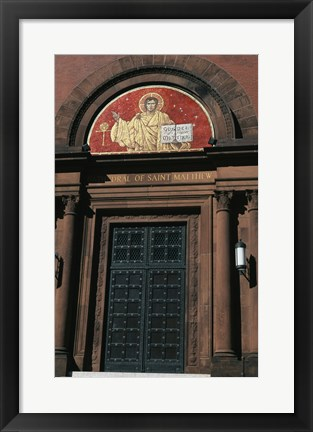 Framed Entrance of a cathedral, St. Matthew's Cathedral, Washington DC, USA Print
