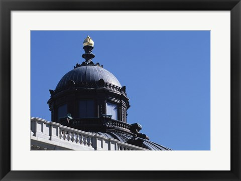 Framed Low angle view of a government building, Library of Congress, Washington DC, USA Print