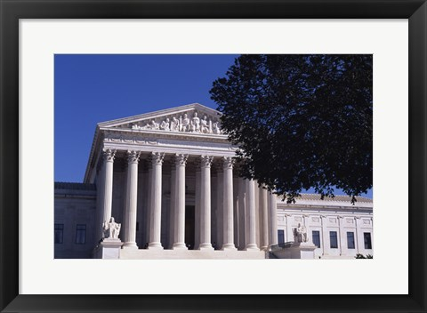 Framed Facade of a government building, US Supreme Court Building, Washington DC, USA Print