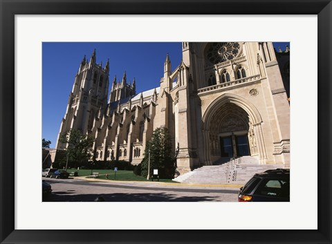 Framed Low angle view of a cathedral, Washington National Cathedral, Washington DC, USA Print