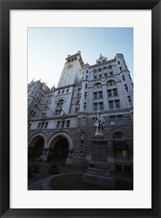 Framed Low angle view of a government building, Old Post Office Building, Washington DC, USA Print