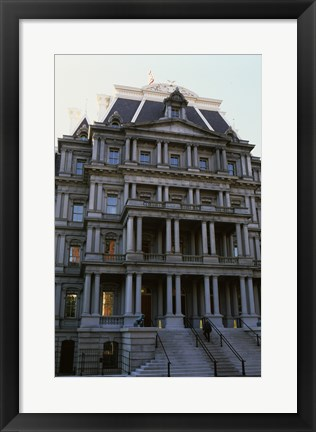 Framed Low angle view of an office building, Old Executive Office Building, Washington DC, USA Print