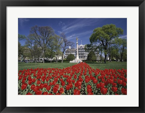 Framed Monument in front of a government building, First Division Monument, Eisenhower Executive Office Building, Washington DC, USA Print