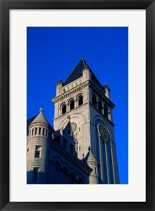 Framed Low angle view of a post office, Old Post Office Building, Washington DC, USA Print