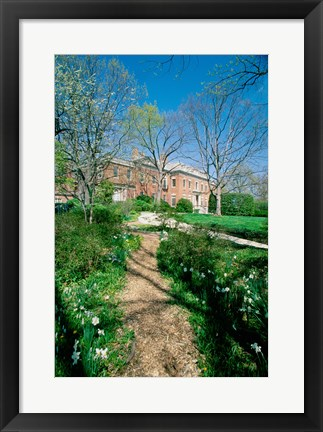 Framed Dunbarton Oaks House Georgetown Washington, D.C. USA Print