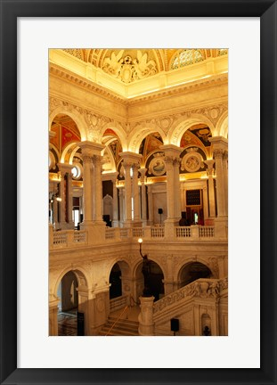 Framed USA, Washington DC, Library of Congress interior Print