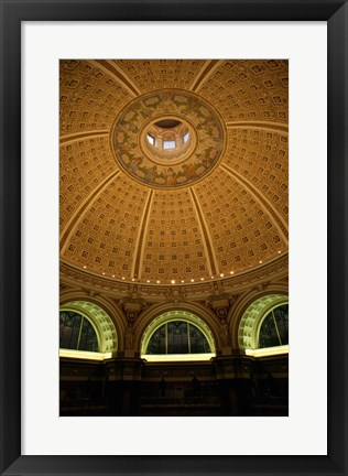 Framed Interiors of a library, Library of Congress, Washington DC, USA Print