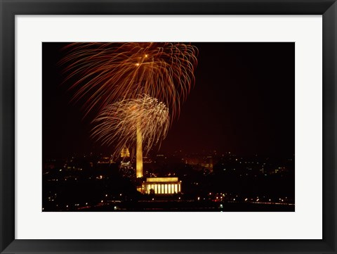 Framed Washington, D.C. USA Fireworks Print