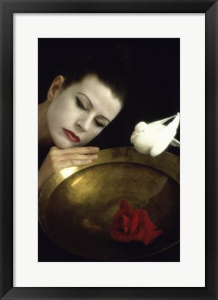 Framed Mime and Dove Print