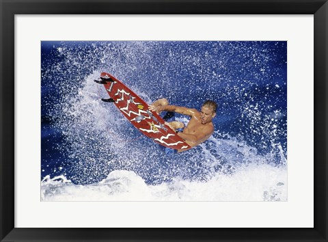 Framed Surfing in action Print