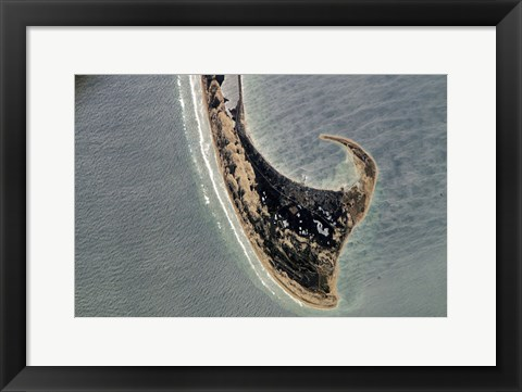 Framed Provincetown Cape Cod photographed from space Print