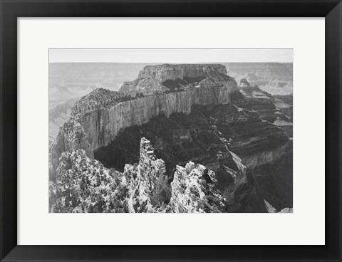 Framed Close-in view of curved cliff, Grand Canyon National Park, Arizona Print