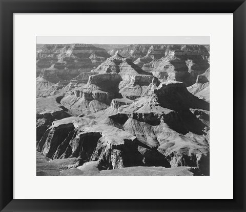 Framed View of rock formations, Grand Canyon National Park,  Arizona, 1933 Print