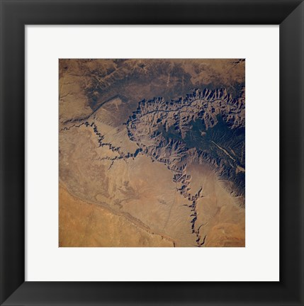 Framed Grand Canyon from space Print