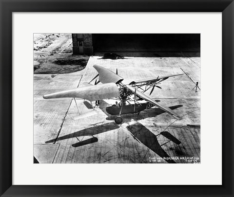 Framed Curtiss Bleeker Helicopter Print