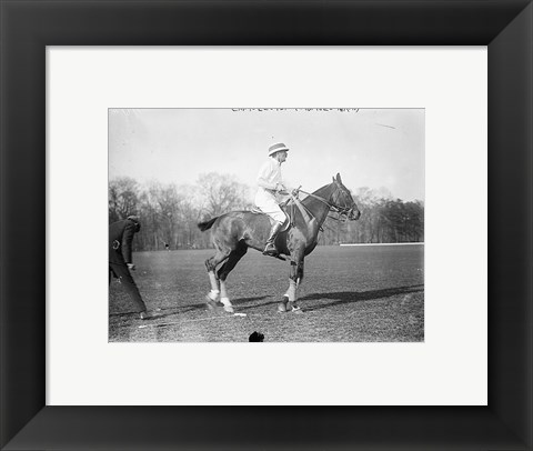 Framed Capt. Lloyd  Eng. Polo Team Print