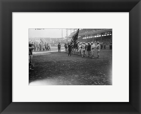 Framed New York Giants Polo Grounds opening day 1923 Print
