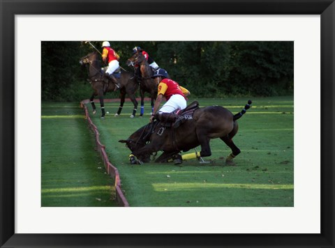 Framed Polo - red and yellow Print