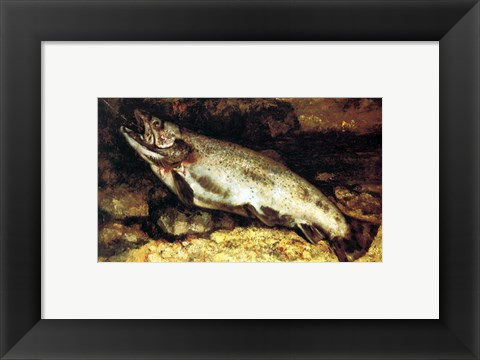 Framed Gustave Courbet - The Trout Print