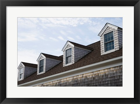 Framed Dormers of a building, Cape Cod, Massachusetts, USA Print