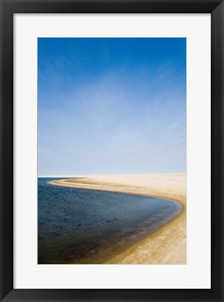 Framed High angle view of a coastline, Cape Cod, Massachusetts, USA Print