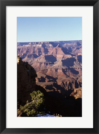 Framed Rock formations in a national park, Grand Canyon National Park, Arizona, USA Print