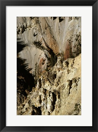 Framed Grand Canyon of the Yellowstone River Yellowstone National Park Wyoming USA Print