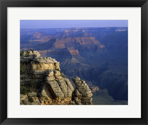 Framed High angle view of rock formation, Grand Canyon National Park, Arizona, USA Print