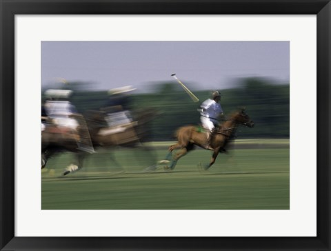 Framed Polo match in progress Print