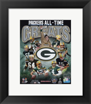 Framed Green Bay Packers All Time Greats Composite Print