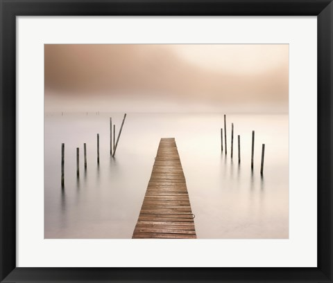 Framed Lake Walk I Print