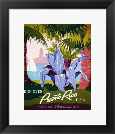 Framed Discover Puerto Rico Print