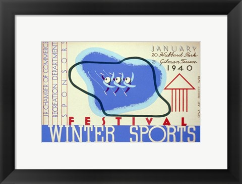 Framed Winter sports festival, Jr. Chamber of Commerce Print
