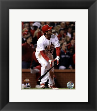 Framed David Freese Game Winning Walk-Off Home Run Game 6 of the 2011 MLB World Series Action (#28) Print