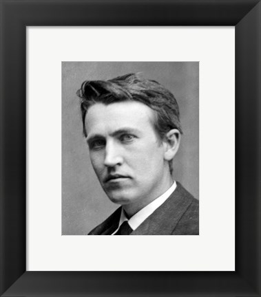 Framed Young Thomas Edison Print