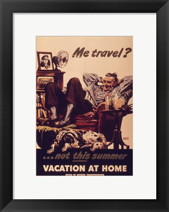 Framed Vacation At Home Print